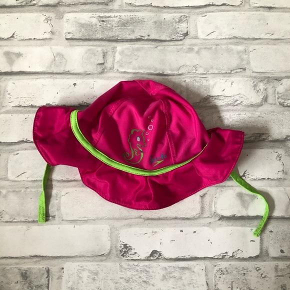 SPEEDO | Baby Girl's Swim Sun Hat S/M Pink Green